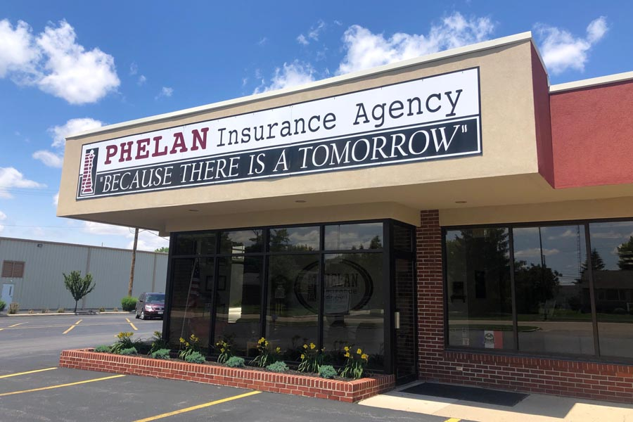 Contact Us - Phelan Insurance Agency Building in Ohio on a Bright Summer Day
